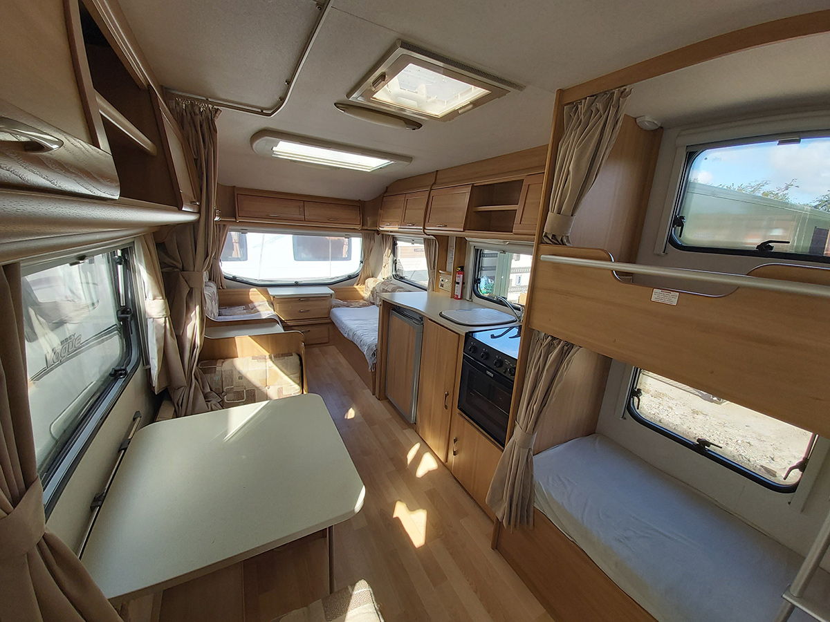 6 Berth Caravan Interior
